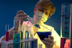 Lavoro in laboratorio Immagini Stock Libere da Diritti