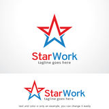 Lavoro Logo Template Design Vector, emblema, concetto di progetto, simbolo creativo, icona della stella illustrazione vettoriale