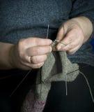 Lavoro a maglia. Fotografia Stock Libera da Diritti