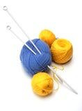 Lavoro a maglia Fotografie Stock