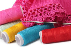Lavoro a maglia, cucire, crochet e merletto Fotografia Stock