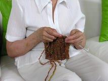 Lavoro a maglia dei 8 Fotografia Stock