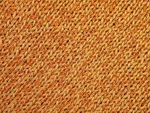 Lavoro a maglia del Brown Fotografie Stock