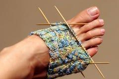 Lavoro a maglia in progresso Fotografia Stock Libera da Diritti