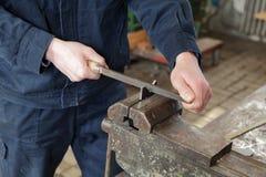 Lavoro in metallo Fotografia Stock