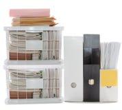 Lavoro occupato: Documenti e dispositivi di piegatura Immagine Stock Libera da Diritti
