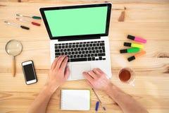 Lavoro online Immagini Stock