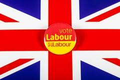 Lavoro Pin Badge di voto Fotografia Stock Libera da Diritti