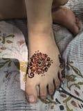 Lavoro stupefacente del hennè Fotografia Stock Libera da Diritti