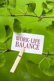 Lavoro-Vita-equilibrio Fotografia Stock Libera da Diritti