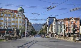 Lavov mest (lejonbron) i Sofia lökformig royaltyfri foto