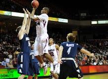 Lavoy Allen - basquetebol do NCAA das corujas do templo fotografia de stock royalty free