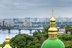 Lavra cupola in koev Royalty Free Stock Image