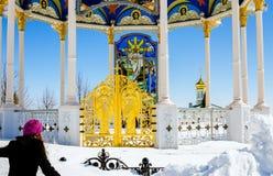 Lavra de Pochaev Voler à un dieu Images libres de droits