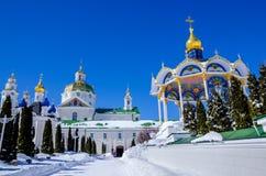 Lavra di Pochaev Vista dal portone santo Fotografie Stock