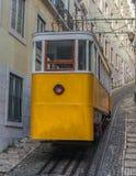 Lavra Funicular eller Elevador, Lissabon, Portugal arkivbild