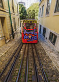 Lavra Funicular in Lisbon Royalty Free Stock Image