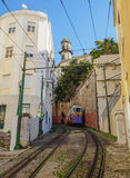 Lavra Funicular in Lisbon Royalty Free Stock Photos