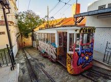 Lavra Funicular in Lisbon Stock Photos