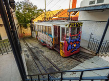 Lavra Funicular in Lisbon Royalty Free Stock Images