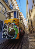 Lavra Funicular in Lisbon Royalty Free Stock Photography