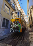 Lavra Funicular in Lissabon Royalty-vrije Stock Afbeelding