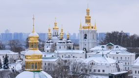 Lavra i Kiev, tempel, ortodox Ukraina kyrka lager videofilmer
