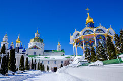 Lavra Pochaev Άποψη από την ιερή πύλη Στοκ Φωτογραφίες