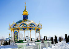 Lavra Pochaev Θερινός βωμός Στοκ Φωτογραφίες