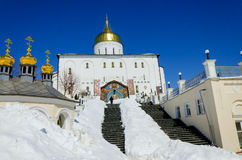Lavra Pochaev Καθεδρικός ναός τριάδας, πλευρά Στοκ φωτογραφίες με δικαίωμα ελεύθερης χρήσης