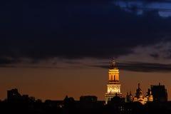 Lavra przy nocą obraz stock