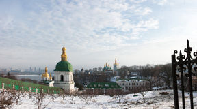 Lavra at winter Royalty Free Stock Images