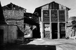 Lavrion的老矿物学工厂,希腊 免版税库存图片