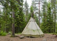 Lavvu帐篷 库存照片