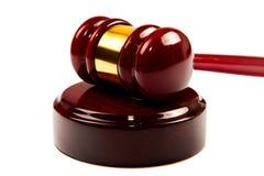 Law. (wood Gavel) on isolated white background Royalty Free Stock Image