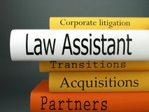Law Assistant - Law Practice Books Stock Photography