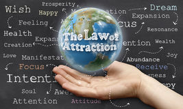 Law of Attraction Stock Image