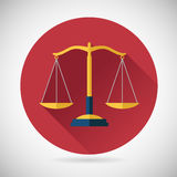 Law Balance Symbol Justice Scales Icon on Stylish. Law Balance  Symbol Justice scales Icon on Stylish Background Modern Flat Design Vector Illustration Royalty Free Stock Images