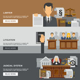 Law Banner Set Royalty Free Stock Photos
