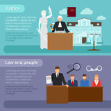 Law banners. People and law, justice and equity Stock Image