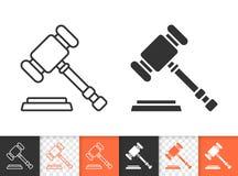 Law simple black line vector icon royalty free illustration