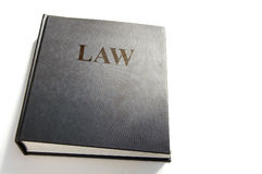 Law book. Isolated on white stock photography