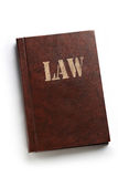 Law book. On white background royalty free stock photo
