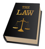 Law Book. Illustration of a law book used by lawyers and judges. Represents legal matters and legal proceedings Stock Images