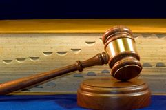 Law Book And Gavel Stock Photography