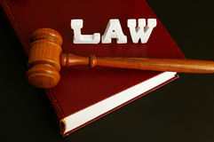Law book,and gavel Royalty Free Stock Photography