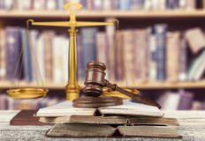 Law. Book Gavel Legal System Education Open Research Royalty Free Stock Photos