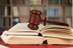 Law Book. Gavel parliamentary Punishment Support Justice Courthouse Royalty Free Stock Image