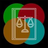Law book icon - judge icon - legal sign vector illustration