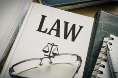 Law book. Legislation and justice concept royalty free stock images